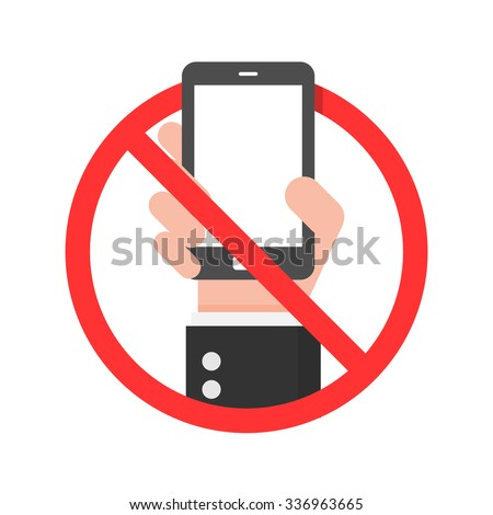 Do Not Use Mobile Phone Sign. - stock vector