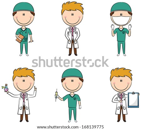 Doctor and health worker characters
