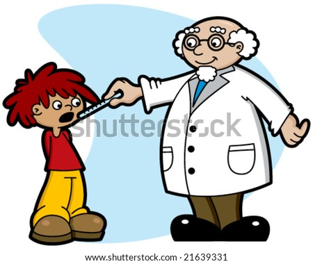 Doctor and Kid - stock vector