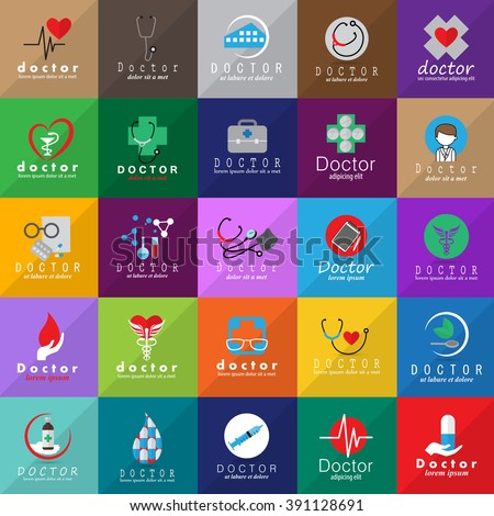 Doctor And Medical Icons Set-Isolated On Mosaic Background-Vector Illustration,Graphic Design.For Web,Websites,Print, App,Presentation Templates,Mobile Applications And Promotional Material,Collection - stock vector