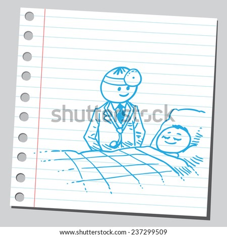 Doctor and patient - stock vector