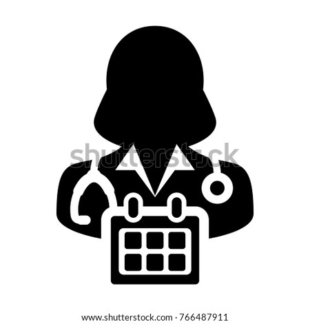 Doctor Appointment Icon Vector Stethoscope Medical Stock Vector