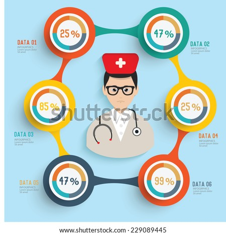 Doctor concept and button for your text editable,clean vector - stock vector