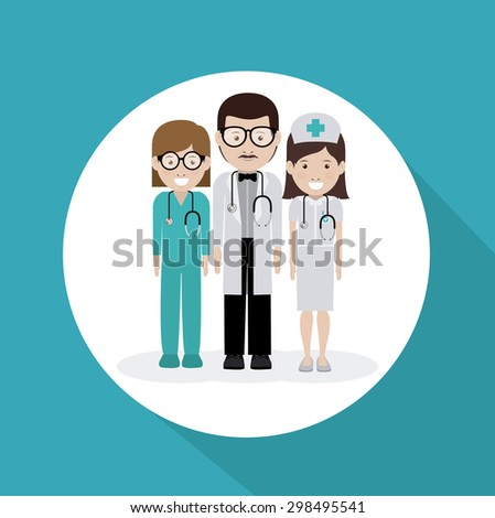 Doctor digital design, vector illustration eps 10 - stock vector