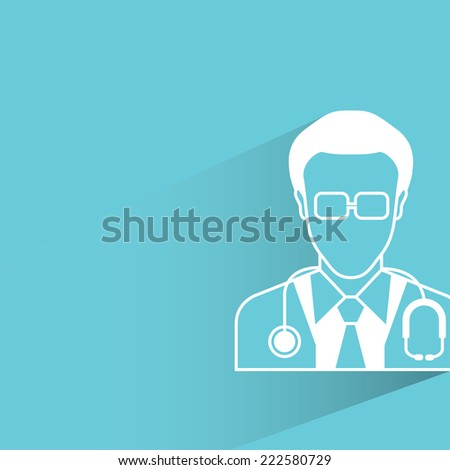 doctor, flat and shadow design - stock vector