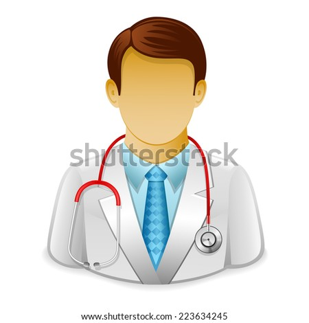 Doctor icon - stock vector