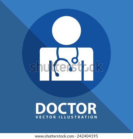 doctor icon design - stock vector