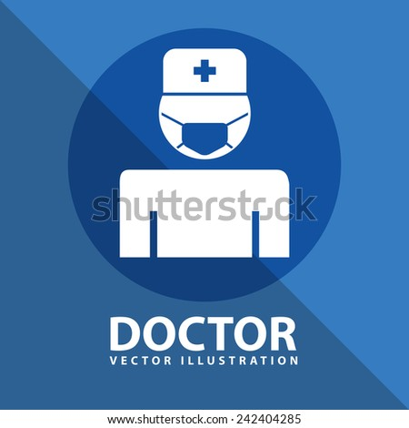 doctor icon design - stock vector
