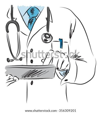 doctor medical illustration 2 - stock vector