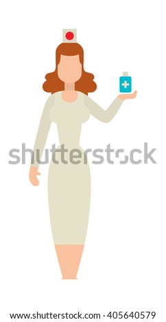 Doctor people young female surgeon with two doctors. Doctor people in operation room. Doctor people Medical team at the hospital looking happy. Medical team doctors at the hospital. - stock vector