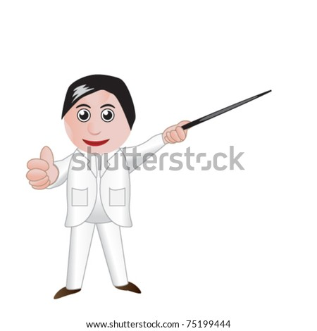 doctor presenting - stock vector