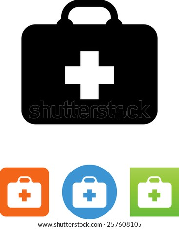 Doctor's first aid kit symbol for download. Vector icons for video, mobile apps, Web sites and print projects.  - stock vector
