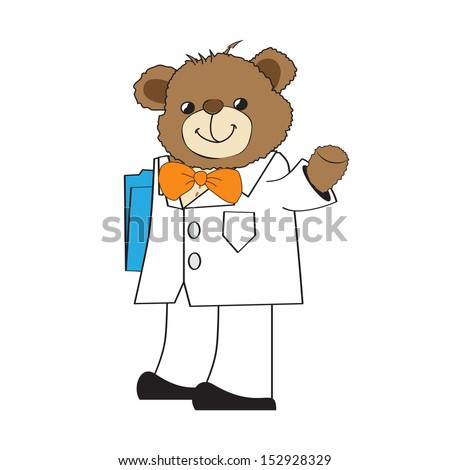 doctor teddy bear, illustration in vector format - stock vector