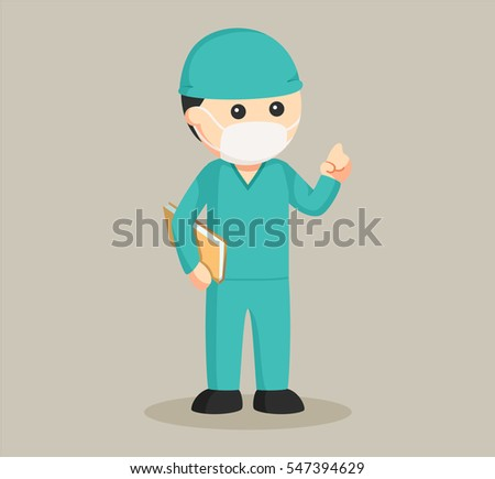doctor with surgeon costume