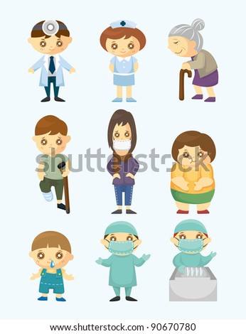 Doctors and Patient people - stock vector