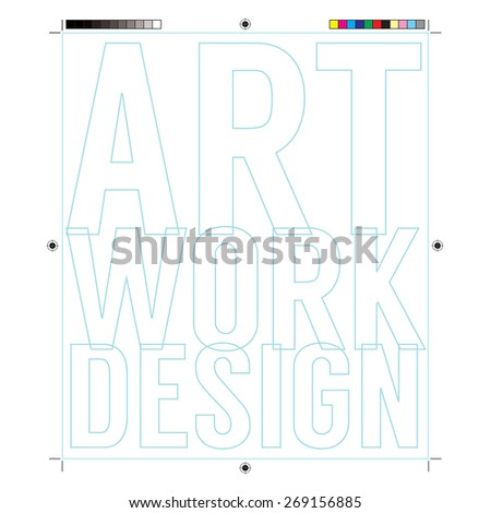 Document Frame With Print Calibration Elements  - stock vector
