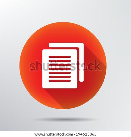 Document icon. - stock vector