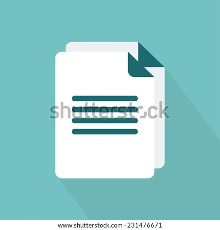 Document icon. Flat style. Vector illustration - stock vector