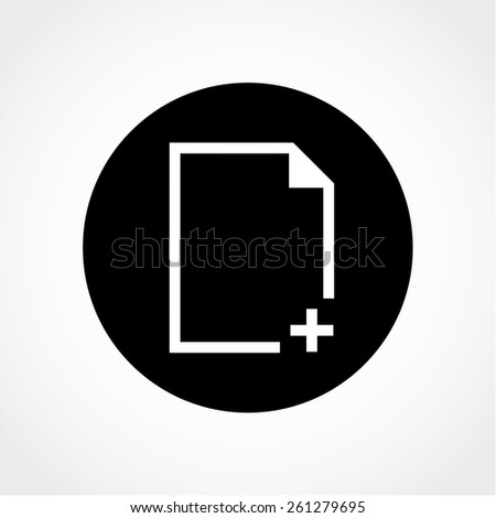 Document Icon Isolated on White Background - stock vector