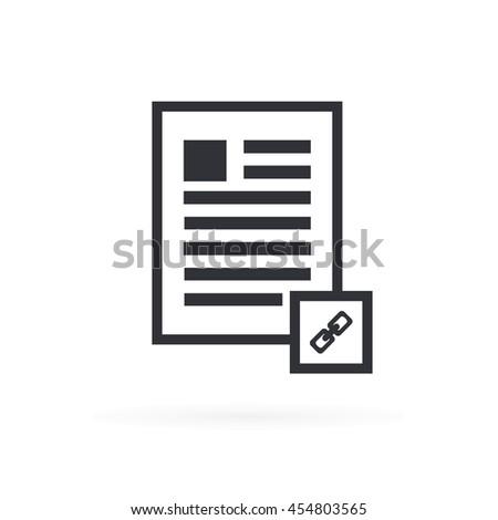 Document Link Icon - stock vector