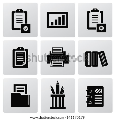 Document,office icons,vector - stock vector