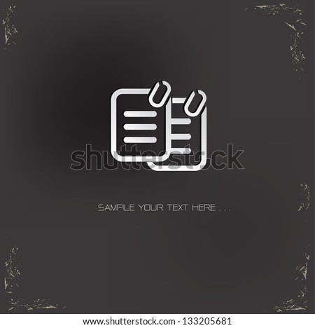 Document sign,vector - stock vector