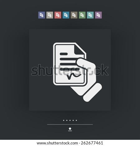 Document signed icon - stock vector