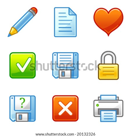 Document web icons, alfa series