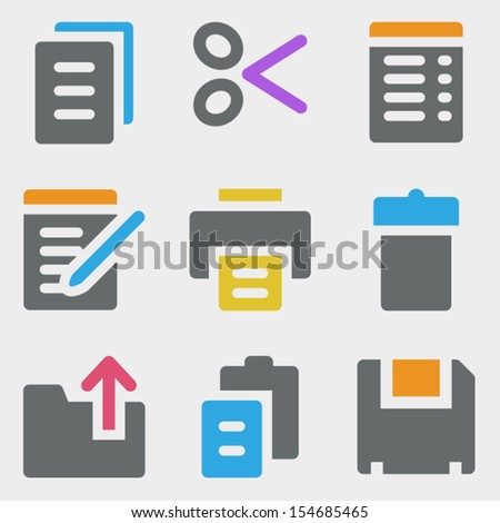 Document web icons color icons