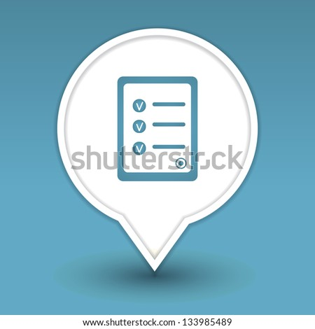 document with approved decisions list, icon for web - stock vector