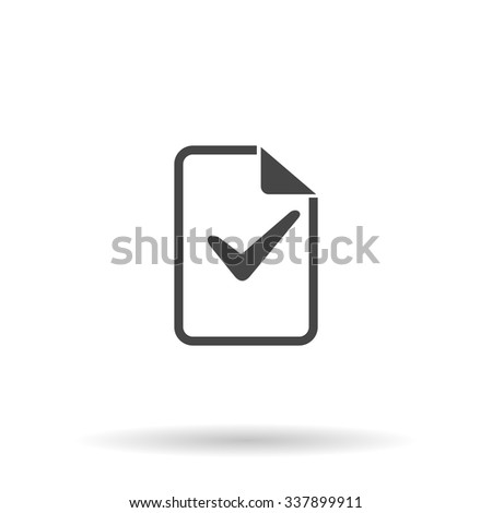 Document with check mark. Icon Vector - stock vector