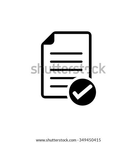 document with Check mark sign icon - stock vector
