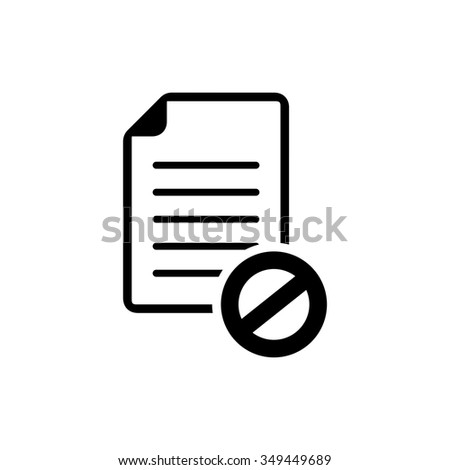 document with restricted sign - stock vector