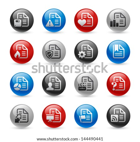 Documents Icons - Set 2 // Gel Pro Series - stock vector