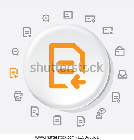 Documents Items Icons - stock vector