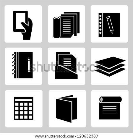 documents set - stock vector