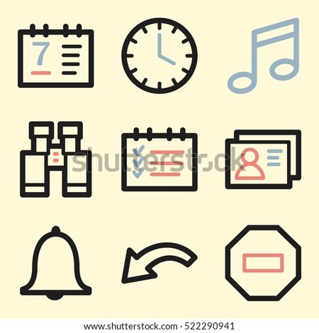 Documents Web Icons Set Office Crm Stock Vector 522290941 Shutterstock