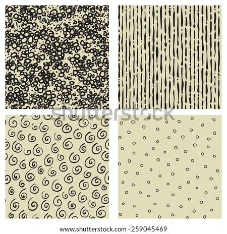 Doddle backgrounds. Vector seamless  pattern with abstract Doddle at hand drawing style - stock vector