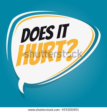 does it hurt retro speech balloon