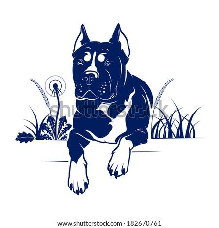 Dog - stock vector