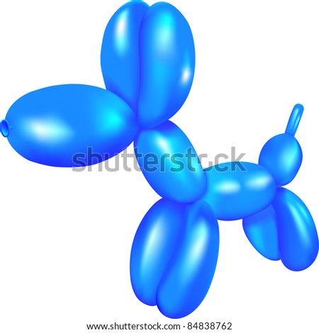 Dog a toy from a balloon in a vector - stock vector