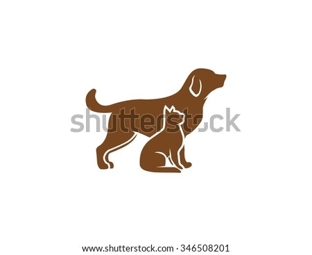 Dog and cat design - stock vector