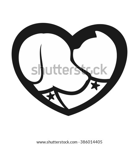 dog and cat logo vector. - stock vector