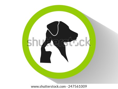 Dog and cat veterinary vector icon - stock vector