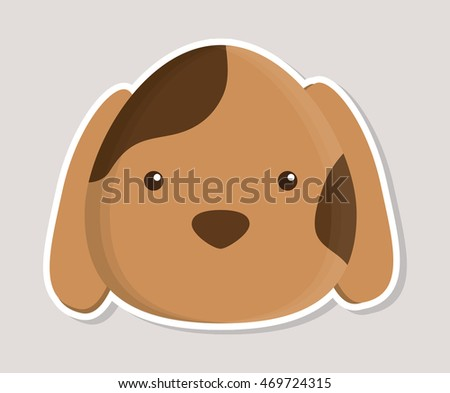 dog animal cute little cartoon icon. Colorful and flat design. Vector illustration