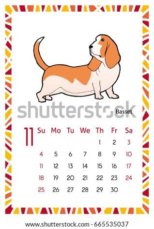 november dog calendar