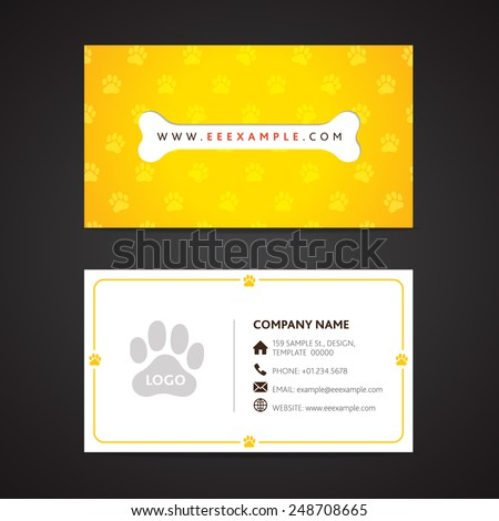 Dog business card stock images royalty free images vectors dog care business card template reheart Choice Image