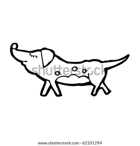 dog cartoon - stock vector