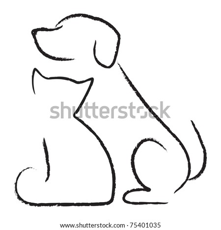 Dog & cat icon - stock vector