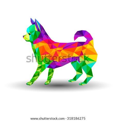 dog chihuahua vector cartoon illustration puppy animal - stock vector